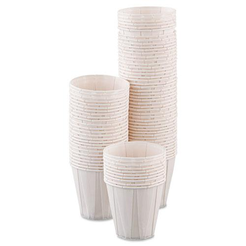 Paper Medical & Dental Treated Cups, 3.5oz, White, 100/Bag, 50 Bags/Carton. Picture 3