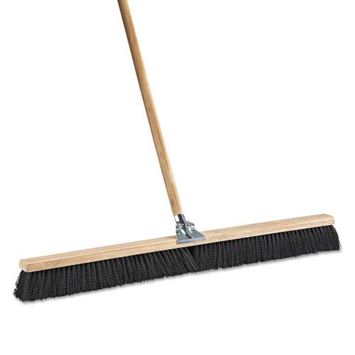 "Floor Brush Head, 36"" Wide, Polypropylene Bristles. Picture 2"
