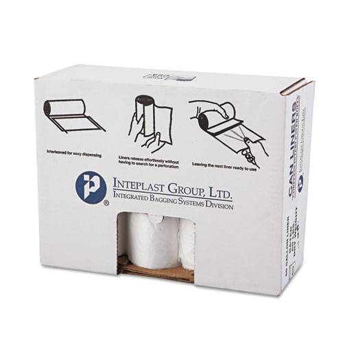 High-Density Can Liner, 38 x 58, 60gal, 14mic, Clear, 25/Roll, 8 Rolls/Carton. Picture 2