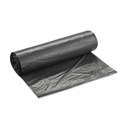 """High-Density Interleaved Commercial Can Liners, 60 gal, 16 microns, 43"""" x 48"""", Black, 200/Carton. Picture 2"""