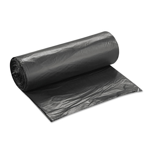 """High-Density Commercial Can Liners Value Pack, 60 gal, 19 microns, 38"""" x 58"""", Black, 150/Carton. Picture 3"""