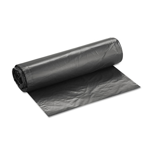 High-Density Can Liner, 40 x 46, 45gal, 19mic, Black, 25/Roll, 6 Rolls/Carton. Picture 3