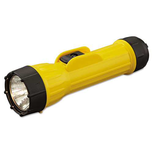 Industrial Heavy-Duty Flashlight, 2 D Batteries (Sold Separately), Yellow/Black. Picture 2