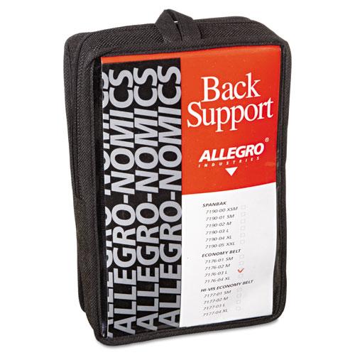 Economy Back Support Belt, Large, Black. Picture 1