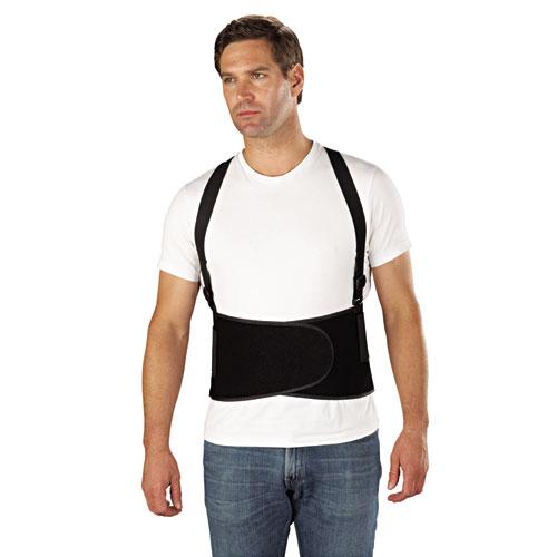 Economy Back Support Belt, Large, Black. Picture 5
