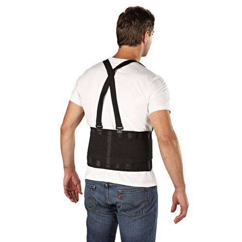 Economy Back Support Belt, Large, Black. Picture 3