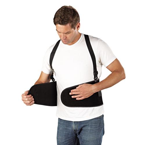 Economy Back Support Belt, Large, Black. Picture 2