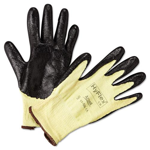 HyFlex Ultra Lightweight Assembly Gloves, Black/Yellow, Size 9, 12 Pairs. Picture 3
