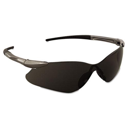 V30 Nemesis VL Safety Glasses, Gun Metal Frame, Smoke Lens. Picture 2