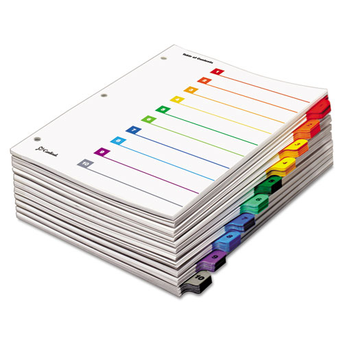 QuickStep OneStep Printable Table of Contents and Dividers, 10-Tab, 1 to 10, 11 x 8.5, White, 24 Sets. Picture 2