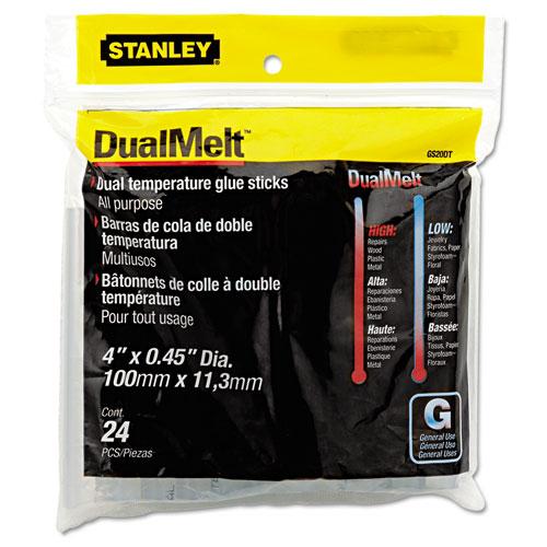 """Dual Temperature Glue Sticks, 0.45"""" x 4"""", Dries Clear, 24/Pack. Picture 1"""