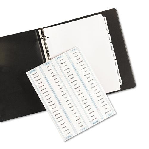 Print and Apply Index Maker Clear Label Dividers, Copiers, 8-Tab, Letter, 5 Sets. Picture 2