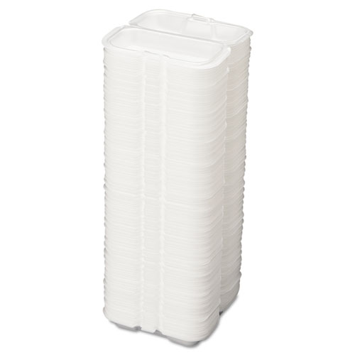 Foam Hot Dog Container, 7 3/8 x 3 9/16 x 2 1/4, White, 125/Bag, 4 Bags/Carton. Picture 2