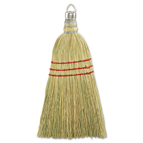 Whisk Broom, Corn Fiber Bristles, Yellow, 12/Carton