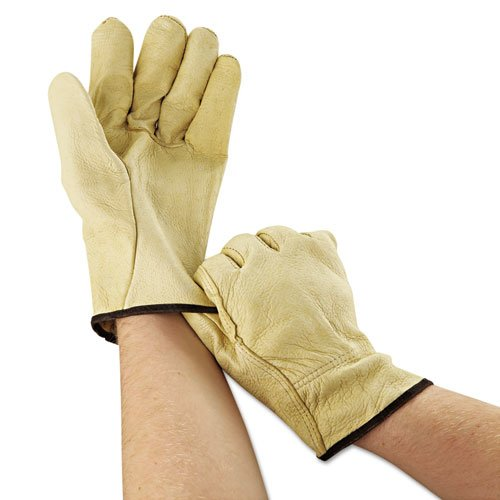Unlined Pigskin Driver Gloves, Cream, Large, 12 Pairs. Picture 2