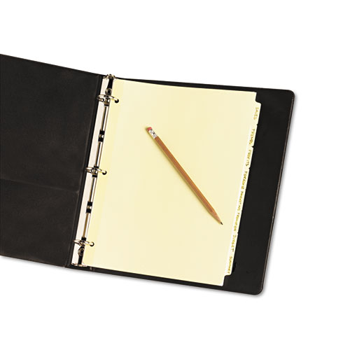 Write and Erase Plain-Tab Paper Dividers, 8-Tab, Letter, Buff, 24 Sets. Picture 2