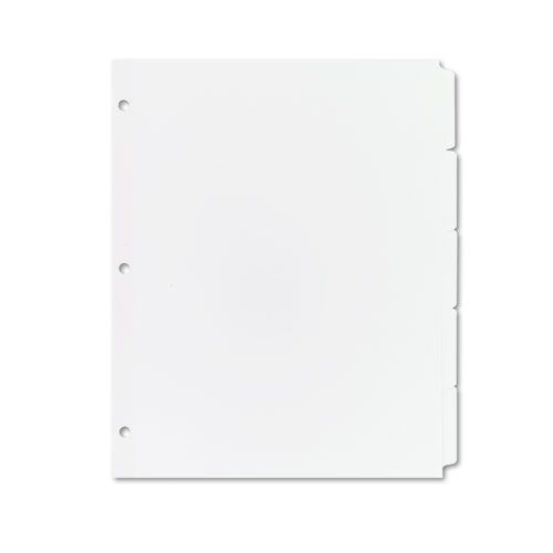 Write and Erase Plain-Tab Paper Dividers, 5-Tab, Letter, White, 36 Sets. Picture 1