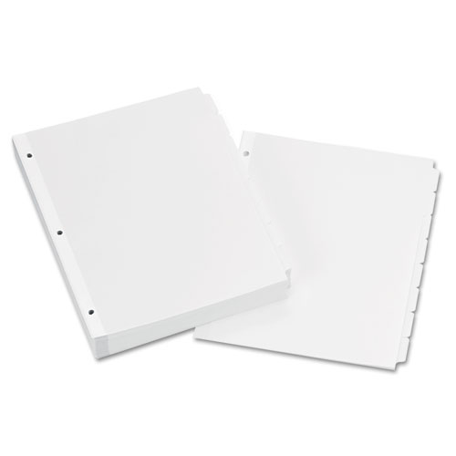 Write and Erase Plain-Tab Paper Dividers, 8-Tab, Letter, White, 24 Sets. Picture 1