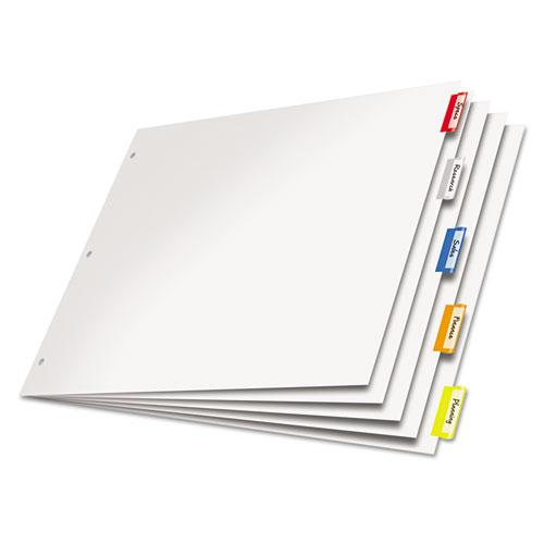 Paper Insertable Dividers, 5-Tab, 11 x 17, White, 1 Set. Picture 1