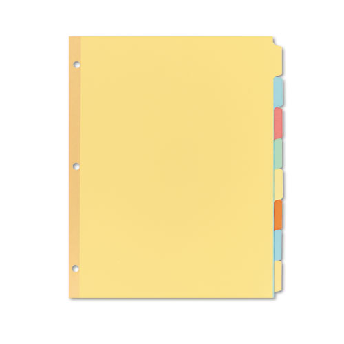 Write and Erase Plain-Tab Paper Dividers, 8-Tab, Letter, Multicolor, 24 Sets. Picture 1
