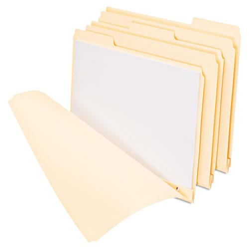 Three-Fastener File Folders, 1/3-Cut Tabs, Letter Size, Manila, 50/Box. Picture 1