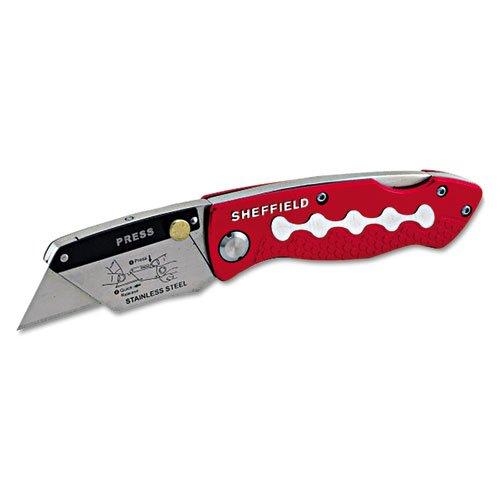Sheffield Lockback Knife, 1 Utility Blade, Red. Picture 2
