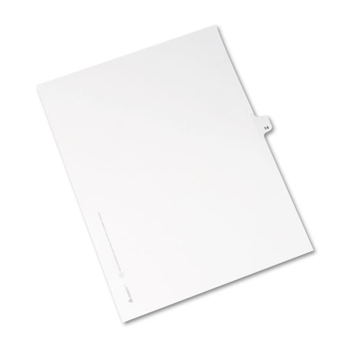 Preprinted Legal Exhibit Side Tab Index Dividers, Avery Style, 10-Tab, 14, 11 x 8.5, White, 25/Pack. Picture 2