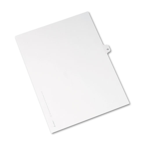 Preprinted Legal Exhibit Side Tab Index Dividers, Avery Style, 10-Tab, 15, 11 x 8.5, White, 25/Pack. Picture 2