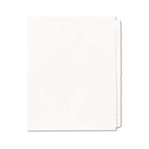 Blank Tab Legal Exhibit Index Divider Set, 25-Tab, Letter, White, Set of 25. Picture 2
