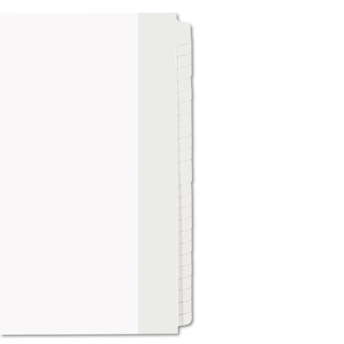Blank Tab Legal Exhibit Index Divider Set, 25-Tab, Letter, White, Set of 25. Picture 3