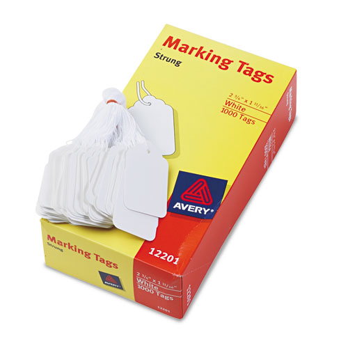 Medium-Weight White Marking Tags, 2 3/4 x 1 11/16, 1,000/Box. Picture 2