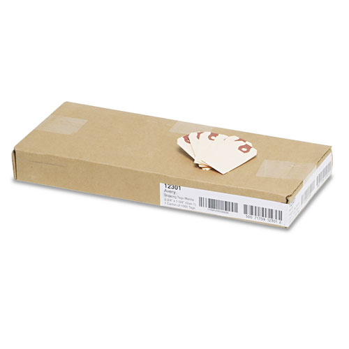 Unstrung Shipping Tags, 11.5 pt. Stock, 2.75 x 1.38, Manila, 1,000/Box. Picture 3