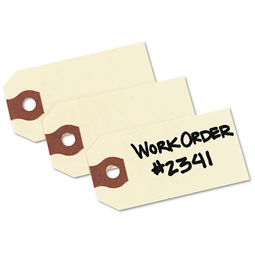 Unstrung Shipping Tags, 11.5 pt. Stock, 2.75 x 1.38, Manila, 1,000/Box. Picture 5