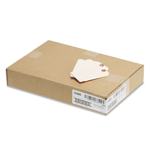 Unstrung Shipping Tags, 11.5 pt. Stock, 4.75 x 2.38, Manila, 1,000/Box. Picture 3