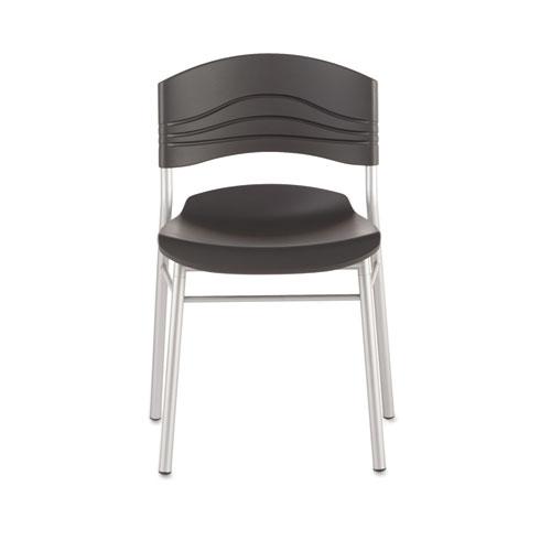 Iceberg CaféWorks Café Chairs, 2-Pack, Graphite. Picture 1