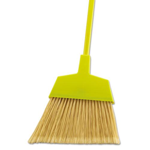 "Poly Bristle Angler Broom, 53"" Handle, Yellow, 12/Carton. Picture 1"