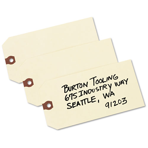 Unstrung Shipping Tags, 11.5 pt. Stock, 6.25 x 3.13, Manila, 1,000/Box. Picture 4