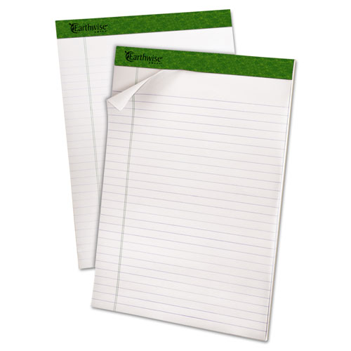 Earthwise by Oxford Recycled Pad, Legal Rule, 8.5 x 11.75, White, 40 Sheets, 4/Pack. Picture 3