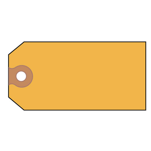 Unstrung Shipping Tags, 11.5 pt. Stock, 4.75 x 2.38, Yellow, 1,000/Box. Picture 1