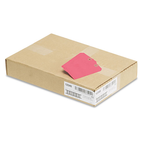 Unstrung Shipping Tags, 11.5 pt. Stock, 4.75 x 2.38, Red, 1,000/Box. Picture 2
