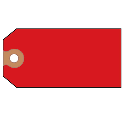 Unstrung Shipping Tags, 11.5 pt. Stock, 4.75 x 2.38, Red, 1,000/Box. Picture 3