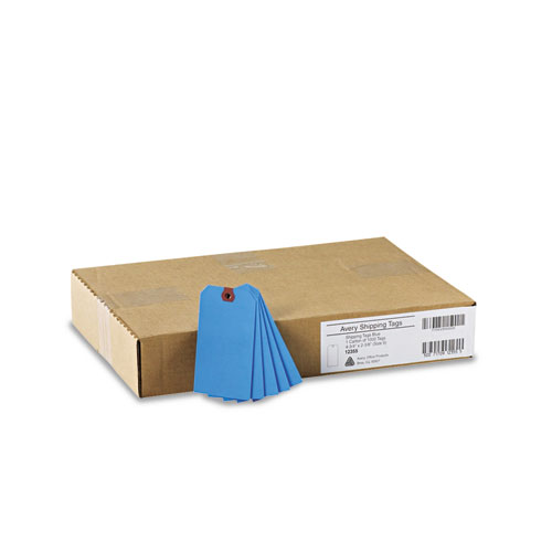 Unstrung Shipping Tags, 11.5 pt. Stock, 4.75 x 2.38, Blue, 1,000/Box. Picture 2