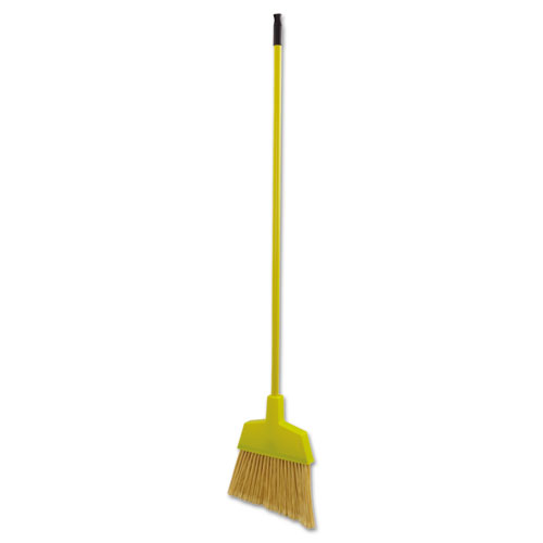"Poly Bristle Angler Broom, 53"" Handle, Yellow, 12/Carton. Picture 2"