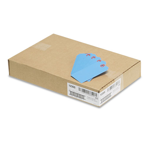 Unstrung Shipping Tags, 11.5 pt. Stock, 4.75 x 2.38, Blue, 1,000/Box. Picture 3