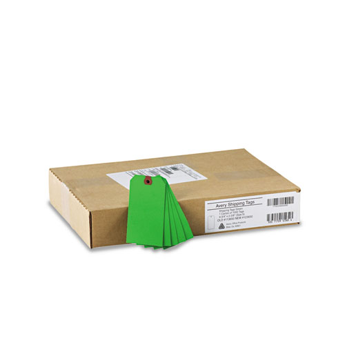 Unstrung Shipping Tags, 11.5 pt. Stock, 4.75 x 2.38, Green, 1,000/Box. Picture 2