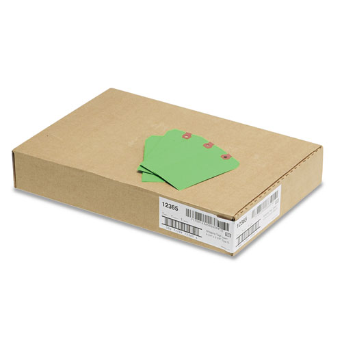 Unstrung Shipping Tags, 11.5 pt. Stock, 4.75 x 2.38, Green, 1,000/Box. Picture 3