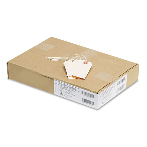 Strung Shipping Tags, 11.5 pt. Stock, 3.75 x 1.88, Manila, 1,000/Box. Picture 3