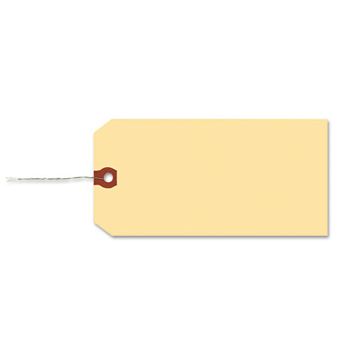 Double Wired Shipping Tags, 11.5 pt. Stock, 3.25 x 1.63, Manila, 1,000/Box. Picture 4