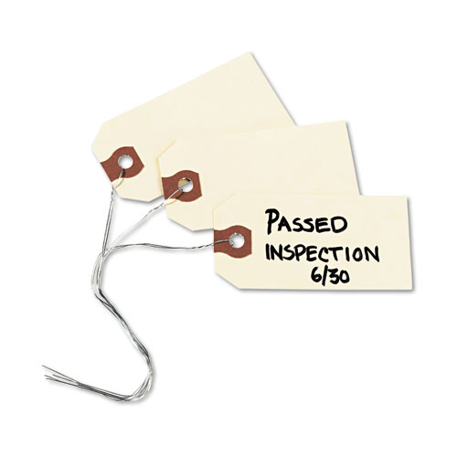 Double Wired Shipping Tags, 11.5 pt. Stock, 3.25 x 1.63, Manila, 1,000/Box. Picture 3