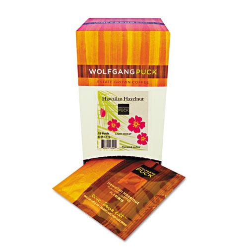 Wolfgang Puck Coffee Pods, Hawaiian Hazelnut, 18/Box